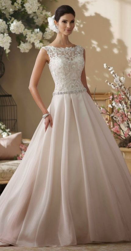 PERFECT!!! A timeless wedding gown very chic and elegant! Reminds me of Grace Kelly & Kate MIddleton