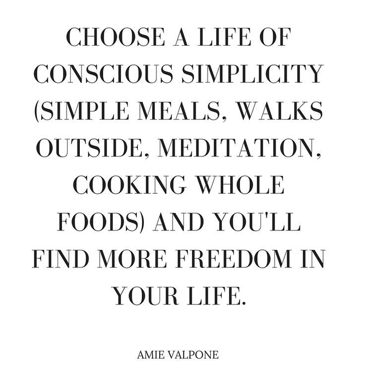 conscious simplicity