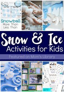 Заполните ваши зимние тематические блоки с несколькими из удивительных снега и льда мероприятия для детей, которые показаны на библиотеке мамы на этой неделе!