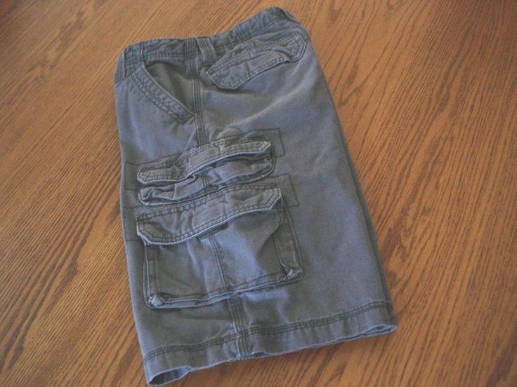 Lee Dungarees Boys Sz 12 Regular Adjustable Waist Cargo Shorts Gray  #LeeDungarees #Cargo #Everyday