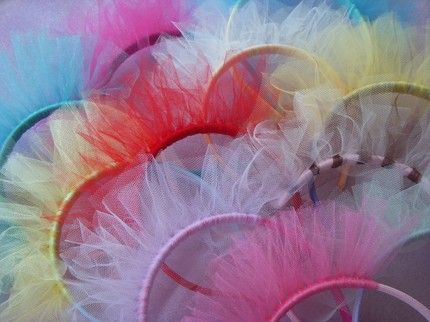 DIY tiaras w/ tulle instead of party hats?..... @Iris Hager would be cute for Lylee's bday party?