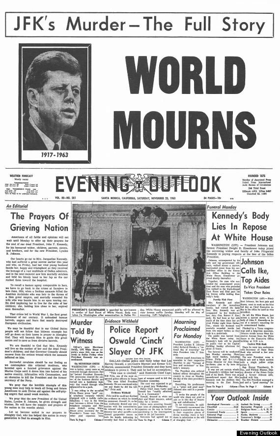 How The World's Newspapers Reported JFK's Assassination