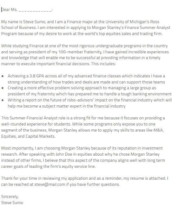 Morgan Stanley Cover Letter. 10 Best Images About Profile On