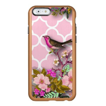 #Shabby chic french chic vintagefloralrusticbi incipio feather shine iPhone 6 case - #girly #iphone #cases