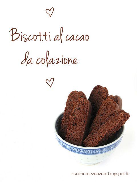 Biscotti al cacao o bianchi da colazione no burro no  olio