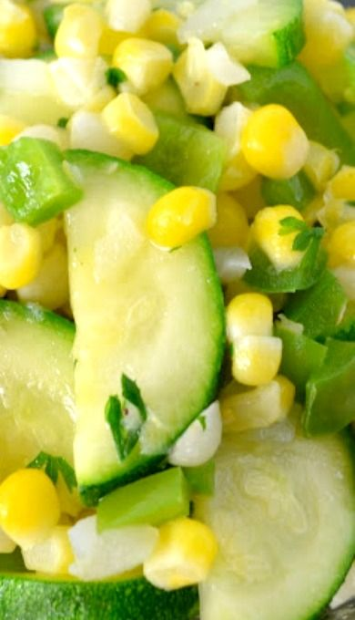 Zucchini and Sweet Corn Saute | Healthier Options | Pinterest