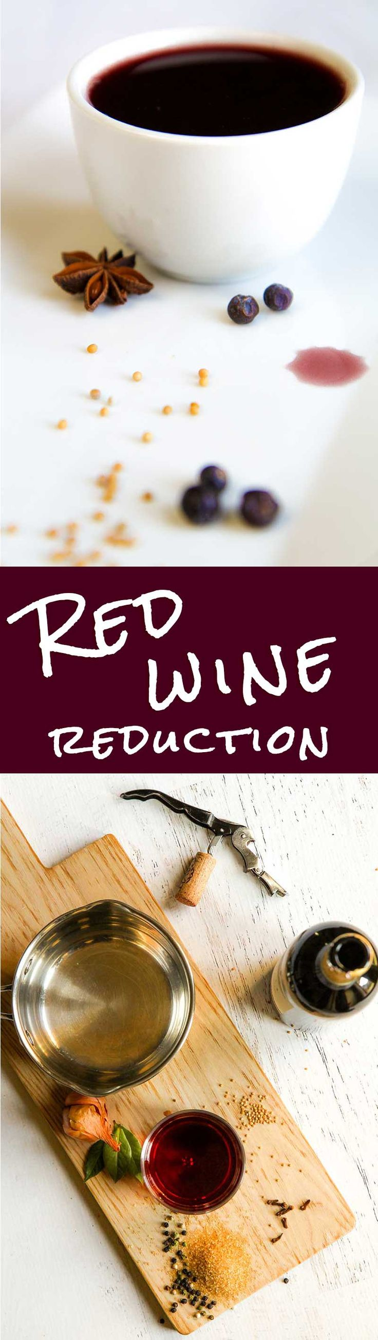 RED WINE REDUCTION RECIPE - This red wine reduction is a simple basic recipe for many dish: stews, braised vegetables, even ice cream! Here I propose my personal recipe, just a base for your own creations! - sauce stew cipollini braised vegetarian vegan gluten free