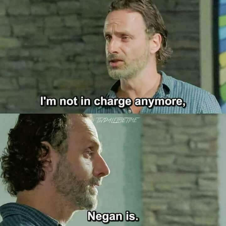 I hate this.. I don't want to hear this.. I want this to end! Enough with bringing down Rick and Daryl! Negan is so annoying omg.. handsome yes, but evil and horrible! He killed Glenn for goodness sakes :-(.. good, kind, caring Glenn.. please no more..