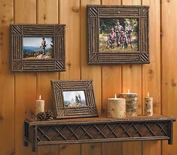 rustic woodenstick frames.