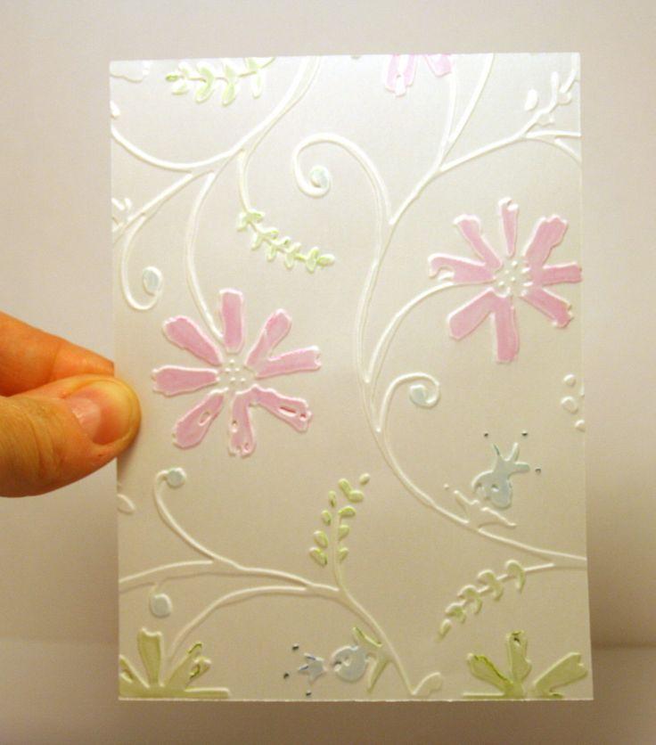 Поздравления, как сделать узоры на открытках