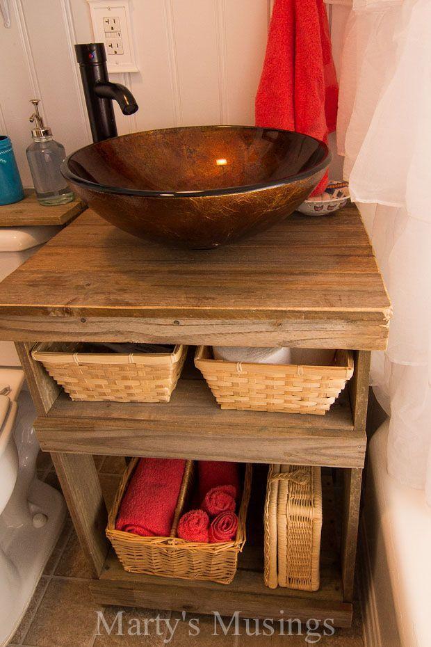Diy Bauernhaus Stil Zaun Bord Badezimmer Schrank Badezimmer Bauernhaus Schrank Badezimmer Schrank Badezimmer Badezimmer Umgestalten
