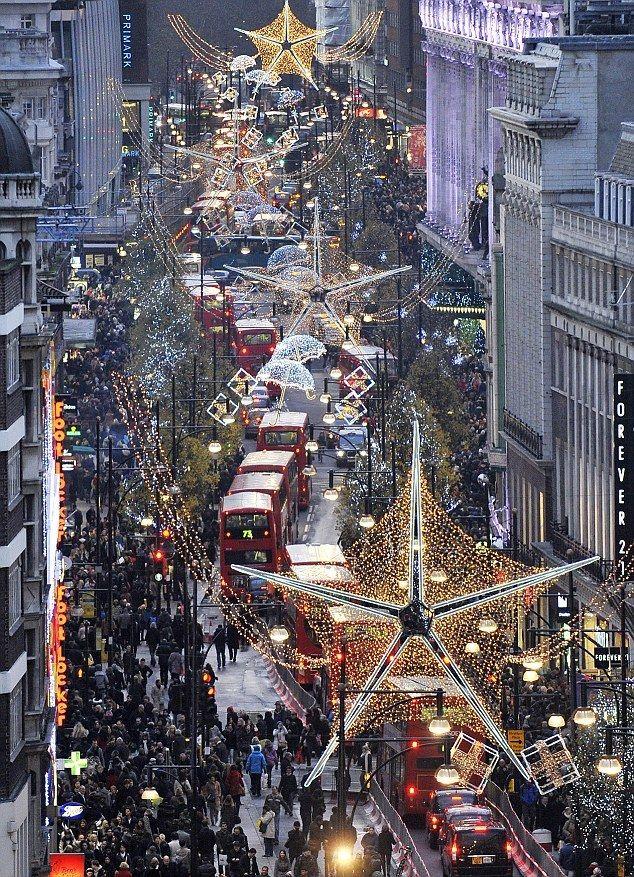 Oxford street London at christmas