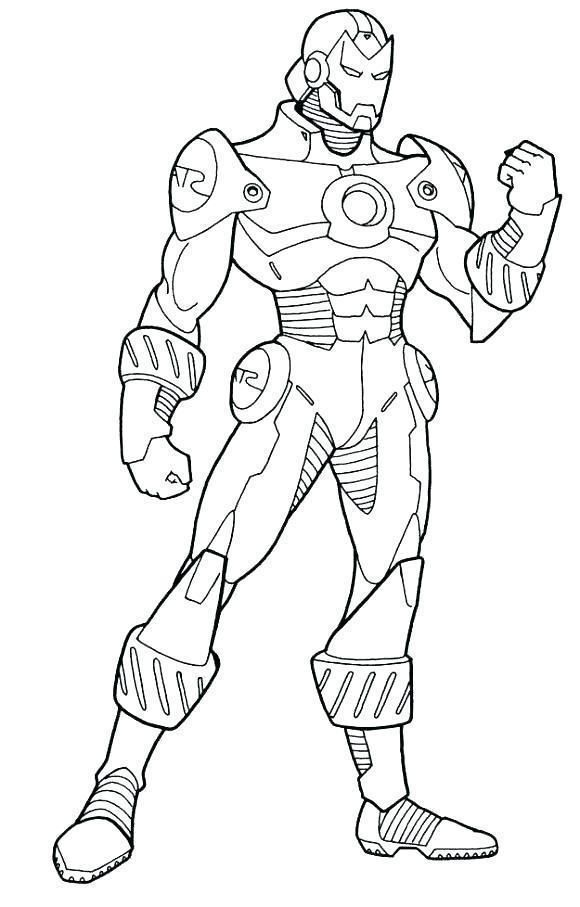 Coloring Page Superhero Iron Man