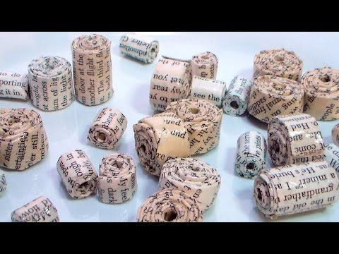 Paper beads tutorial; frugal crafter