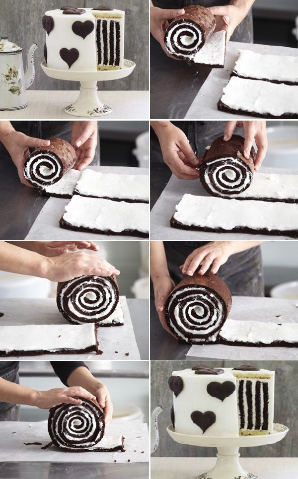 How to Make Gorgeous Chocolate Stripe Cake | www.FabArtDIY.com LIKE Us on Facebook ==> www.facebook.com/...