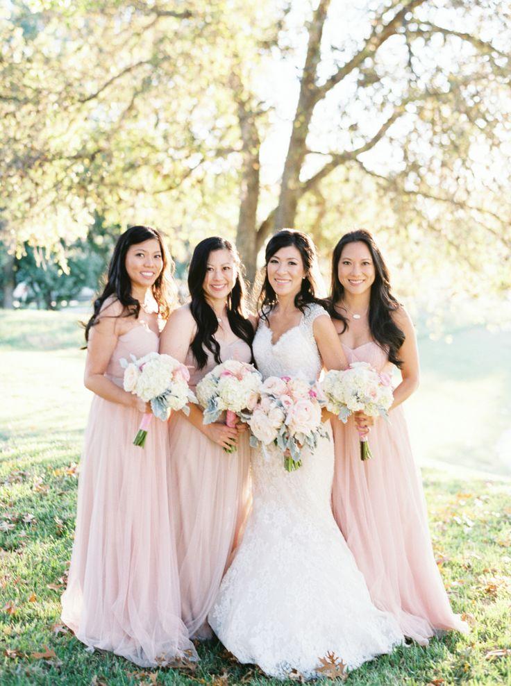 Stunning Pink And White Diy Wedding Pale Pink