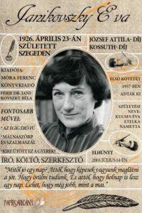 A magyar irodalom jelentős alakjai – Janikovszky Éva