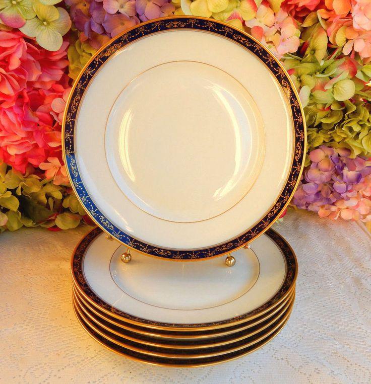 6 Gorgeous Vintage Richard Ginori Porcelain Dinner Plates Castello Cobalt Gold #RichardGinori & 40 best Richard Ginori images on Pinterest | China Dresden and ...