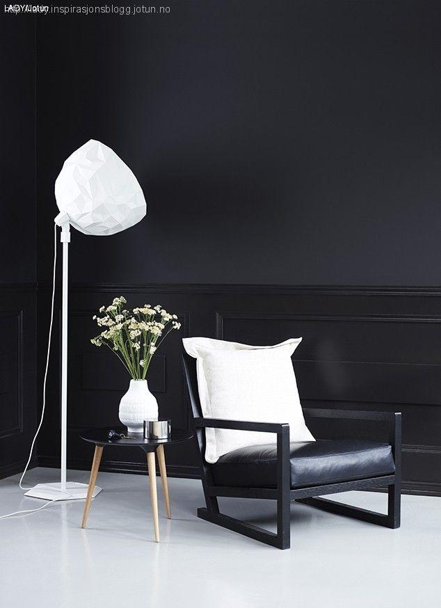 Lady maling Jotun kontraster sort hvitt 3 Black wall Svart vegg