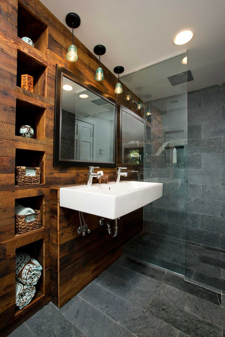 bathroom abbreviation. Stunning mix of natural materials in this bathroom design featuring  regionally sourced Alberene Soapstone tiles from our Virginia quarry and reclaimed wood 203 best Interiors Residential images on Pinterest