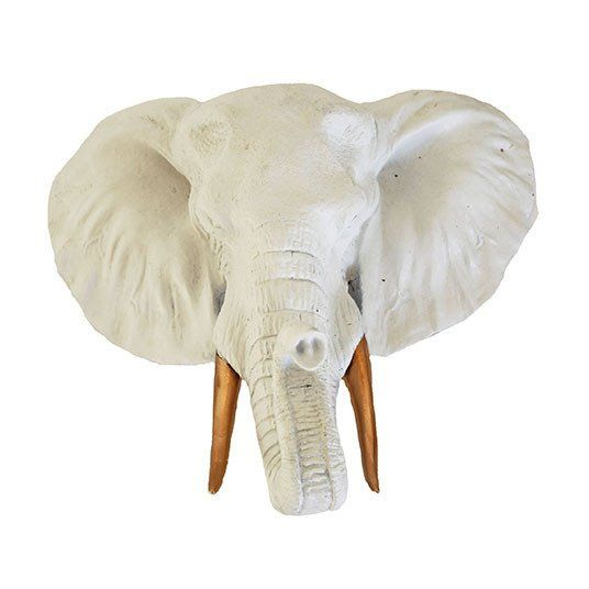 Small Elephant Decor: Large White Elephant