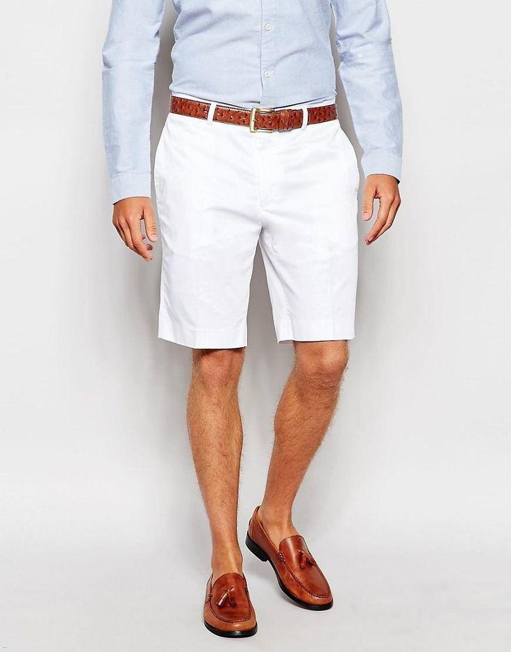 ASOS | ASOS Skinny Smart Shorts In Cotton Sateen at ASOS