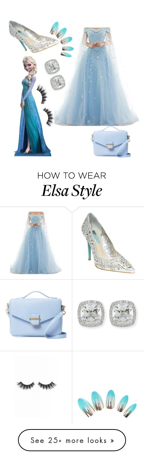 """Elsa has her"" by queenofquestions on Polyvore featuring Cynthia Rowley, Disney, Betsey Johnson, Frederic Sage and Violet Voss"