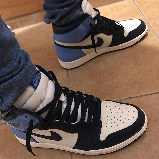Air Jordan 1 Retro High Og Obsidian University Blue Nike Jordans Air Jordan 1 Retro High Og Obsidian University Blue Basketball Shoes 555088 140 Aj1 Sneakers In 2020 Blue Basketball Shoes Air Jordans University Blue
