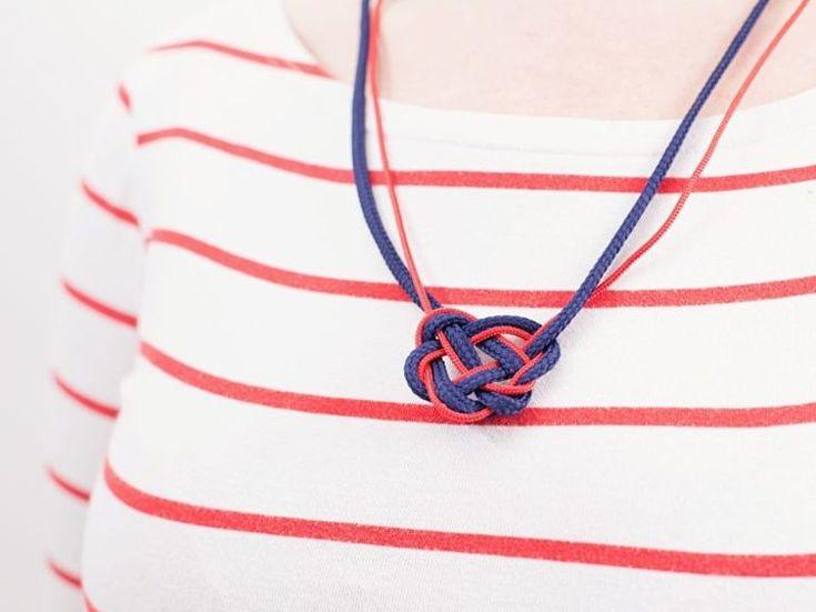 DIY-Anleitung: Kette aus Schnur knoten / how to knot a maritime necklace via DaWanda.com