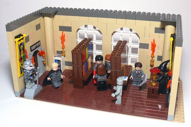 An awesome lego harry potter custom library.