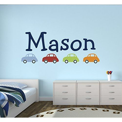 Custom Car Name Wall Decal For Boys Nursery Wall Decals Baby Room Wall  Decor *** You Can Get Additional Details At The Image Link. Part 74