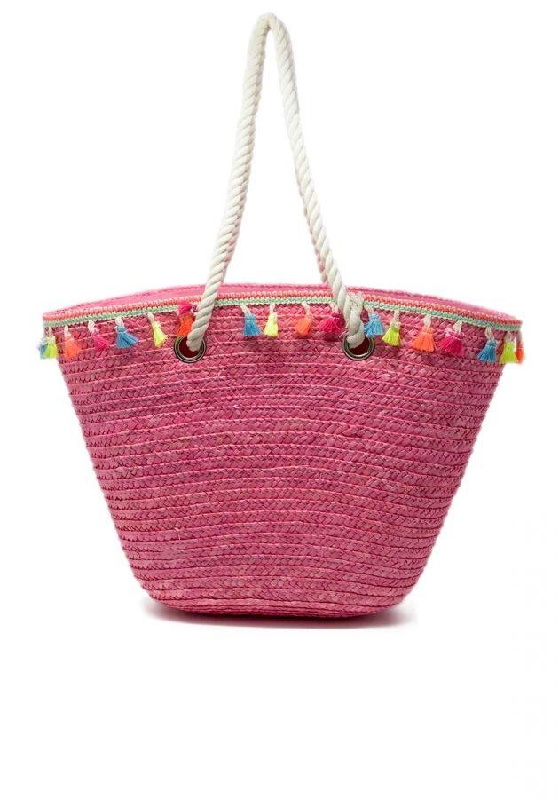 45a8436852 Τσάντα θαλάσσης ψάθινη boho