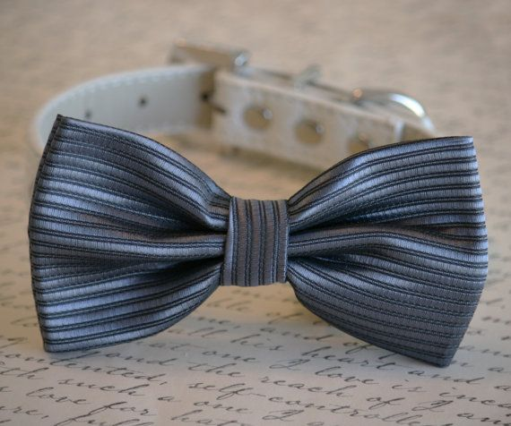 Charcoal wedding Charcoal Dog Bow Tie Pet Wedding by LADogStore