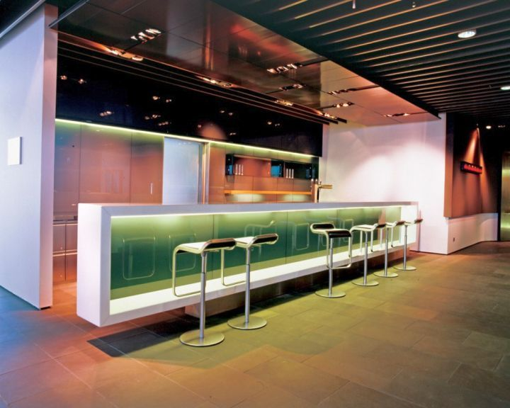 Modern Home Bar Design With Green Glow With Make A Home Design.