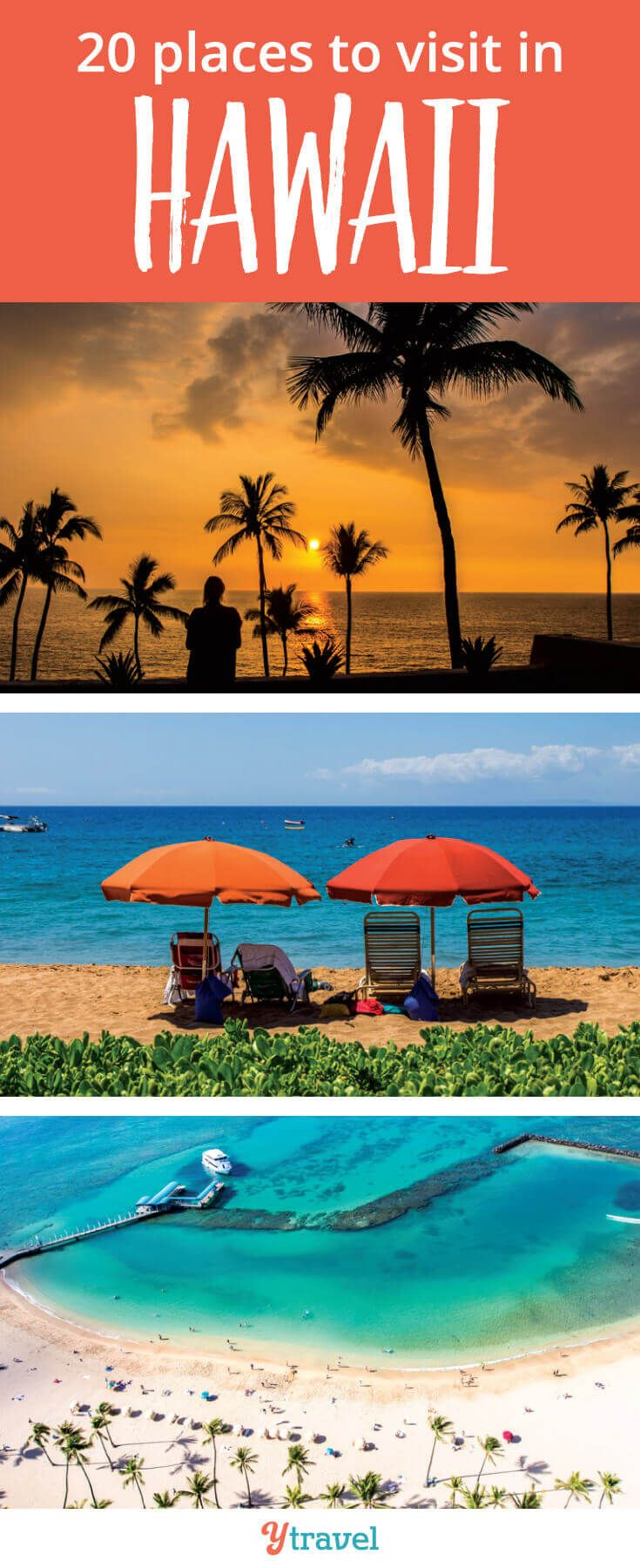 Places to visit in Hawaii. Going to Hawaii is always a good idea, especially if you want to escape the cold of winter in North America. Check out these 20 places to visit in Hawaii for your next vacation. #Hawaii #Travel #Oahu