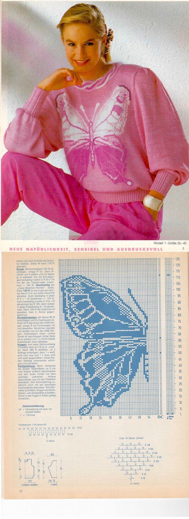 Блузон - машинное вязание | вязание(жаккард,вышивка) | Постила