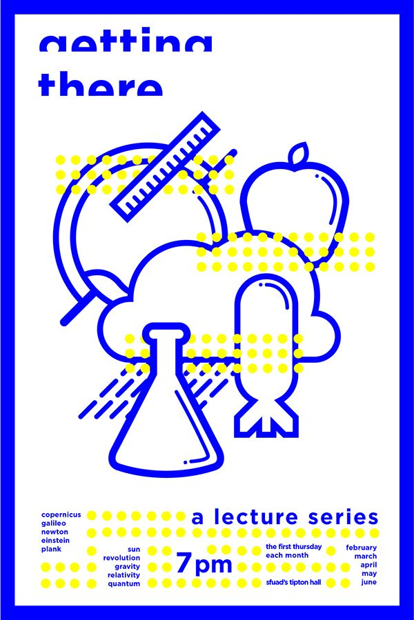 Science Lecture Poster and Icon Design on Behance