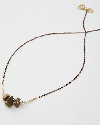 Rock Pendant Long Necklace from Abercrombie & Fitch $28,00