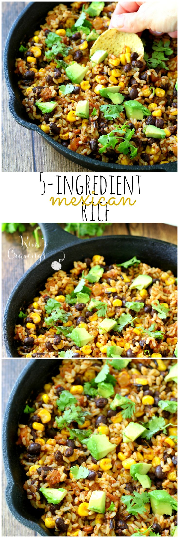 5 Ingredient Mexican Brown Rice might just be the simplest most flavorful rice dish you'll ever cook. It comes together so easily and quickly in one skillet, which makes for less mess. (gluten-free & vegan)  LunchWithMinute AD @MinuteRiceUS