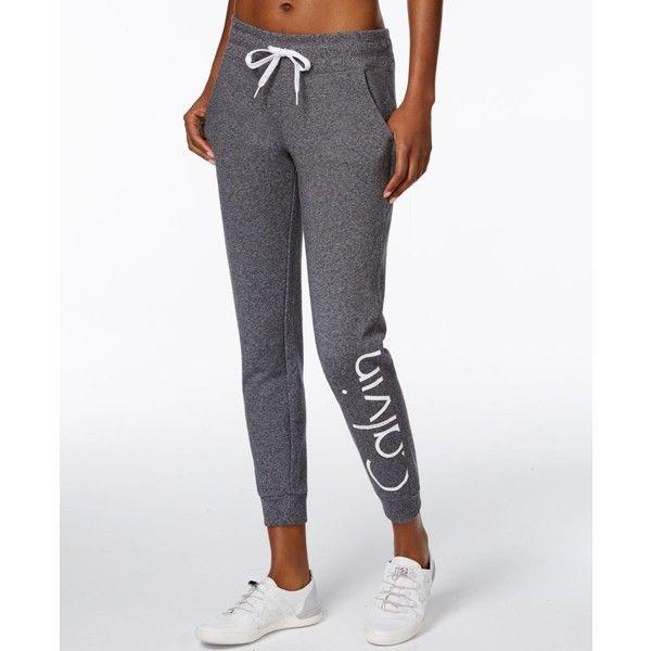 Calvin Klein Performance Logo Sweatpants ($49) ❤…