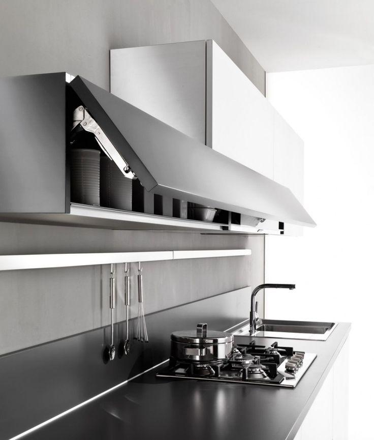 78 best kitchens horizontal doors images on pinterest - Cocinas minimalistas pequenas ...