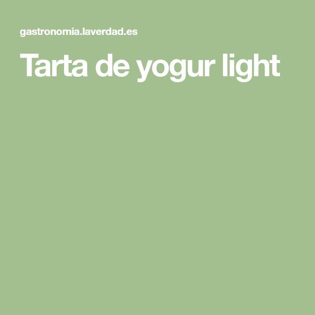 Tarta de yogur light