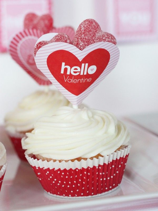 Superb Inspired DIY Valentine Cupcake Toppers, Valentineu0027s Day Party Ideas # Valentines #cupcakes #day Ideas