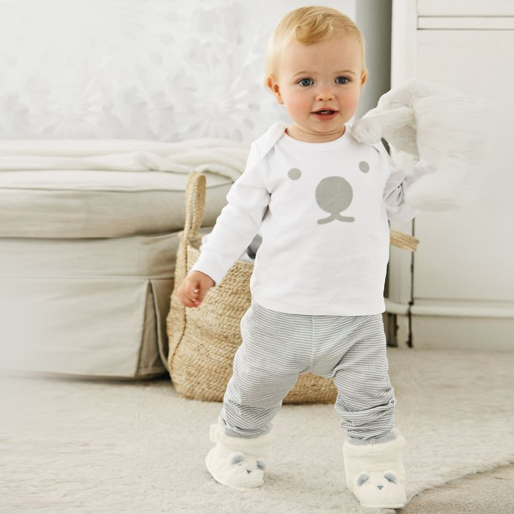 Polar Bear Stripe Pyjamas - Baby Sleepwear | The White company