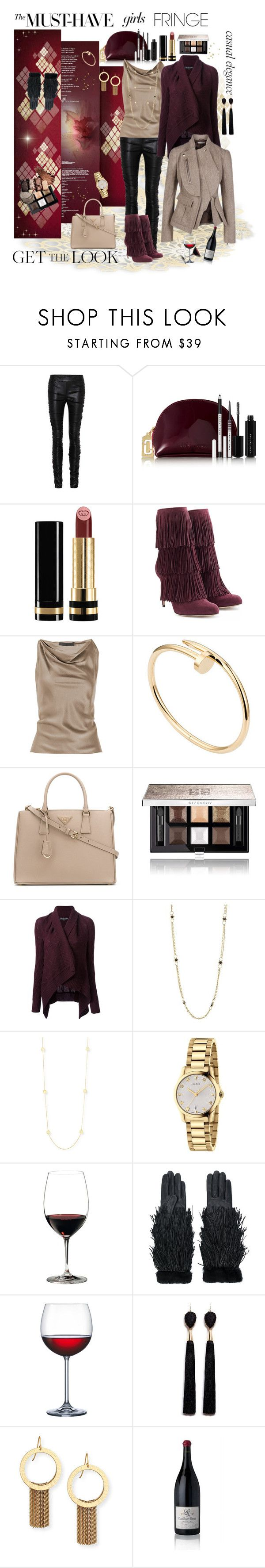 """""""Get The Look: Fringe"""" by isabellaalexa ❤ liked on Polyvore featuring The Row, Marc Jacobs, Gucci, Paul Andrew, Alexander Wang, Cartier, Prada, Givenchy, Ralph Lauren Black Label and Amali"""