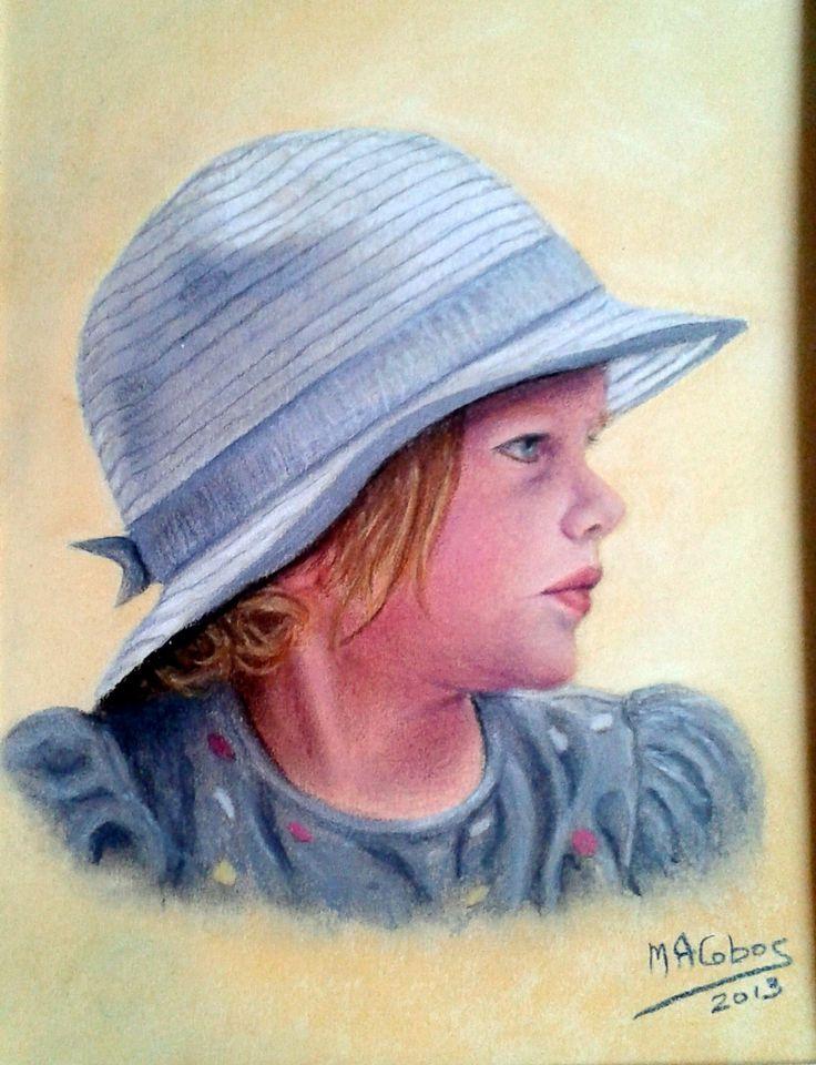 Portrait au pastel d'après photo