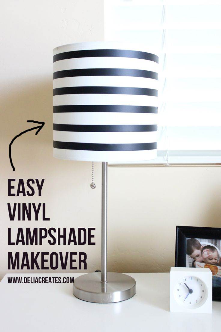 Easy Vinyl Lampshade Makeover