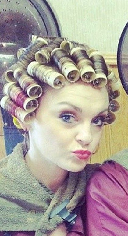 17 best images about sexy in curlers on pinterest