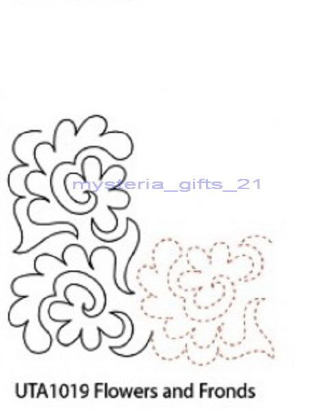 QUILTING DESIGN TEARAWAY SHEETS FLOWERS AND FRONDS-CORNER 1019 #matildasOwn #TearawaySheets