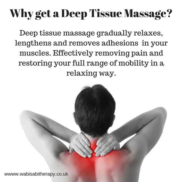 Why get a Deep Tissue Massage?  It feels good and it is beneficial to your health. When muscles are stressed, they block oxygen and nutrients, leading to inflammation that builds up toxins in the muscle tissue (also known as adhesions).   A deep-tissue massage helps loosen muscle tissues, release toxins from muscles and get blood and oxygen circulating properly.   Because many toxins are released, it's important to drink plenty of water after a deep-tissue session to help eliminate these…